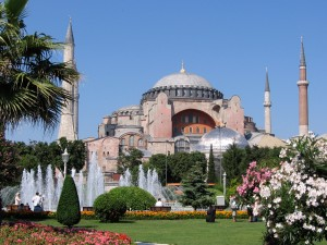 The Aya Sophia (Hagia Sophia or Saint Sophia's) in Istanbul, Turkey